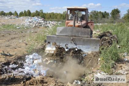полигон, свалка, мусор, санкционные продукты