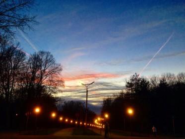 вечер, Смоленск, освещение