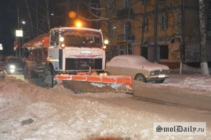 снег, авто, уборка