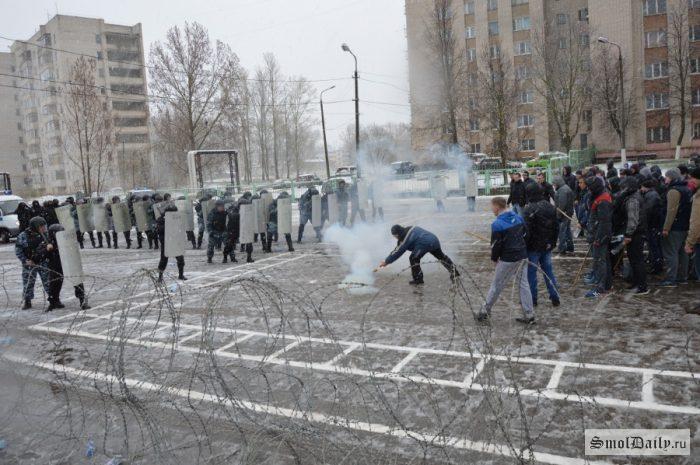 Полицейские ликвидировали «массовые беспорядки» в Смоленске