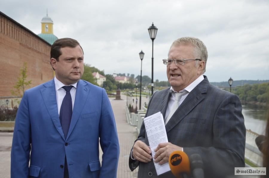 Владимир Жириновский посетил Вязьму иСмоленск