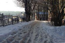 уборка, снег