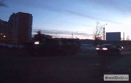 ВРосгвардии прокомментировали движение колонны БТР вСмоленской области