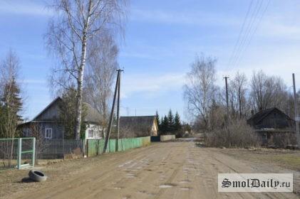 деревня, дорога, дом