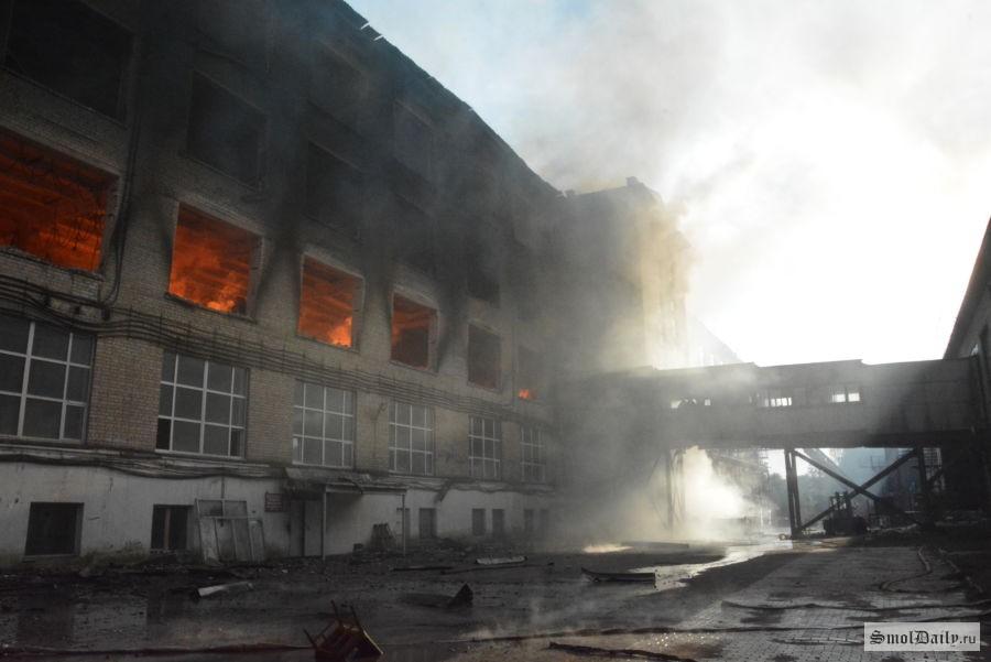Предпосылкой пожара на«Шарме» вСмоленске мог стать поджог