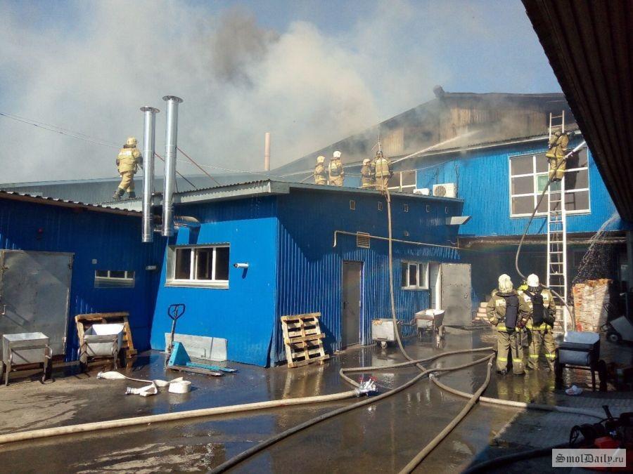 МЧС локализовало пожар вколбасном цехе вСмоленске